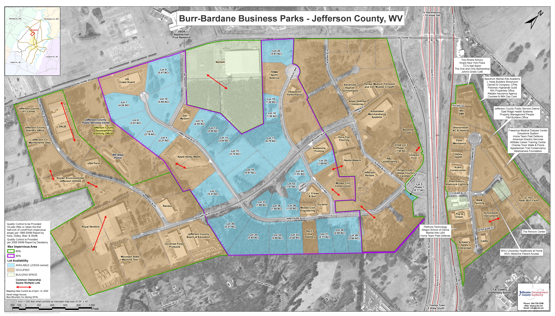 Burr-Bardane Business Park Map 04 2020